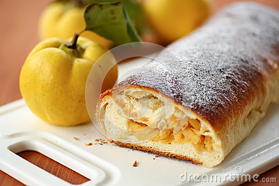 Strudel with quince