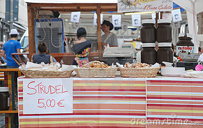 Strudel Stall, Friuli Doc Udine Editorial Photography