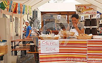 Strudel Stall, Udine Friuli Doc Editorial Photography
