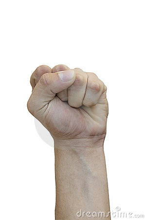 Free Struggle Sign Made With Hand Stock Photo - 10527860