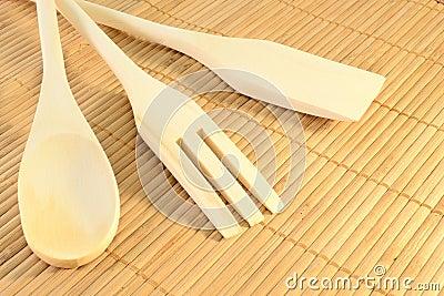 Strumenti di legno della cucina immagini stock immagine for Strumenti di cucina