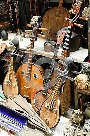 Strumenti musicali cinesi fotografia stock immagine 3478440 for Oggetti tradizionali cinesi