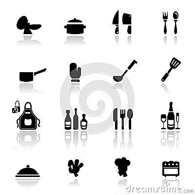 strumenti stabiliti della cucina dell'icona fotografia stock ... - Strumenti Cucina