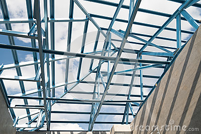 Struttura del tetto d 39 acciaio fotografia stock immagine for Stili tetto tetto