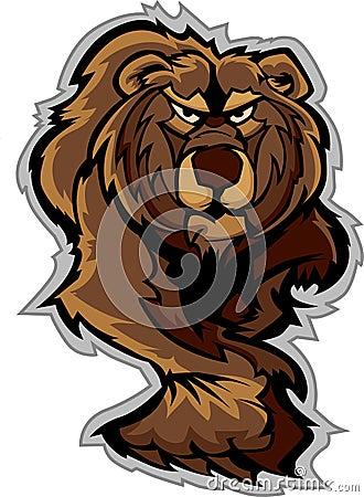 Stryka omkring för huvuddel för Grizzlybjörnmaskot