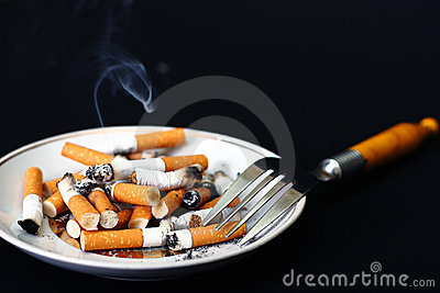 Stubs on a plate