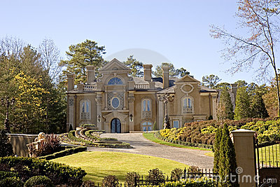 Stucco Mansion on Hill