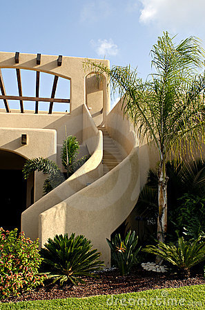 Stucco Stairway