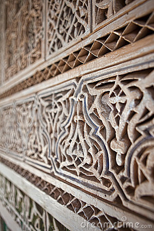 Stucco and stonework, Morocco