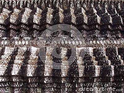 Stucco, Thai pattern on pagoda
