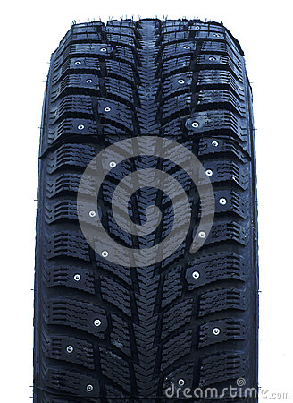 Free Studded Winter Tires Stock Photo - 62535970