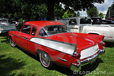 Studebaker Silver Hawk in Antique Car Show Editorial Photo