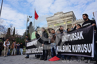 Studends Protest Editorial Stock Photo