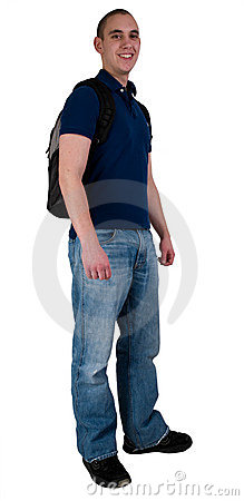 Student With Back Pack