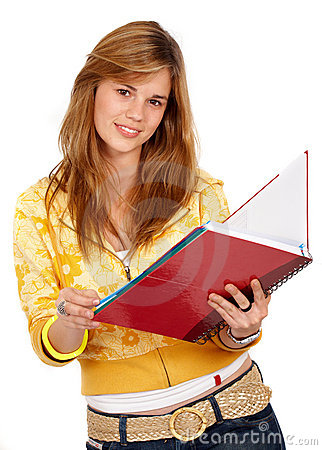 Student with books