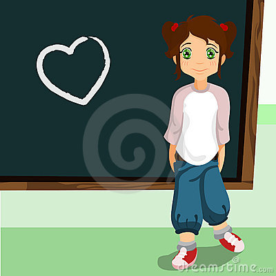 Student on the chalkboard