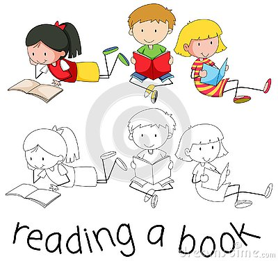 Free Student Character Reading Book Royalty Free Stock Images - 130367939