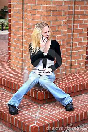 Student At College Royalty Free Stock Photos - Image: 680998
