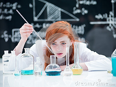 Student conducting a lab experiment