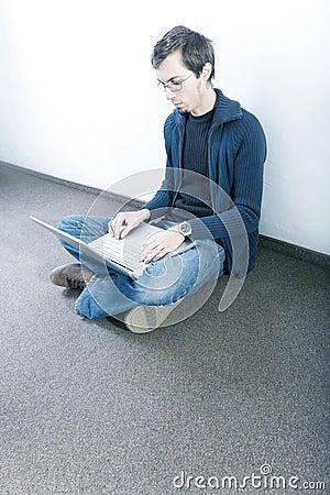 Student on corridor
