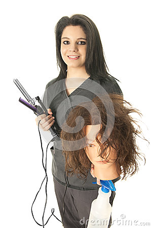Free Student Cosmetologist Preparing To Practice Stock Images - 56600954