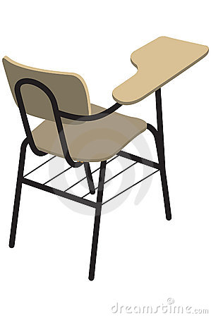 School Desk And Chair Clip Art The school chair for right