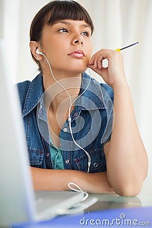 Student devolved to do her homework