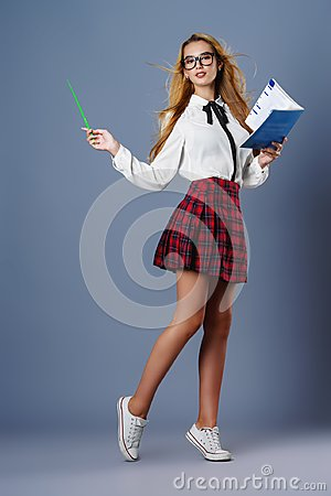 Free Student Girl At Studio Stock Photography - 108339122