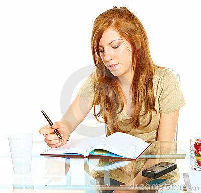 Student girl with notebook