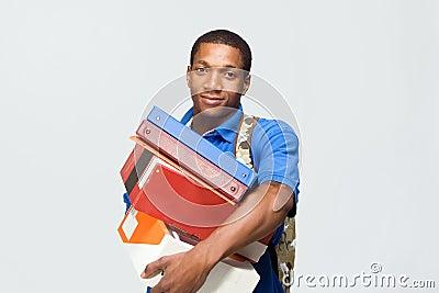 Student Holding Notebooks - Horizontal