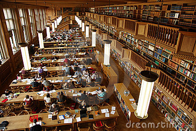 Student library Editorial Stock Image