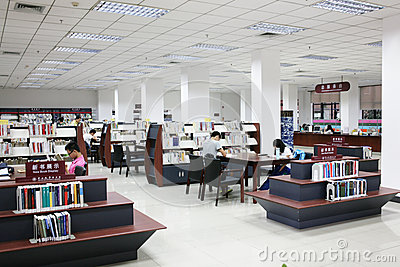 Student library Editorial Image