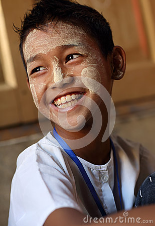Student in Mandalay Editorial Photo