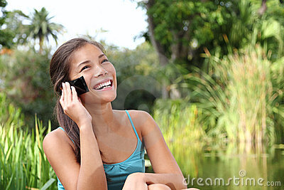 Student on mobile phone