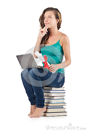 Student with netbook