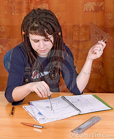 Student with notes