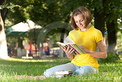 Student in park