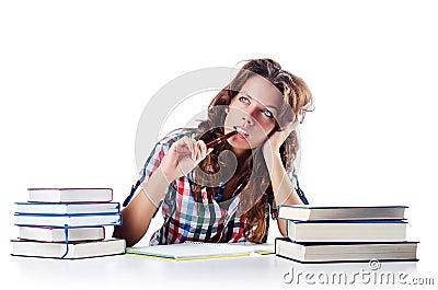 Student preparing