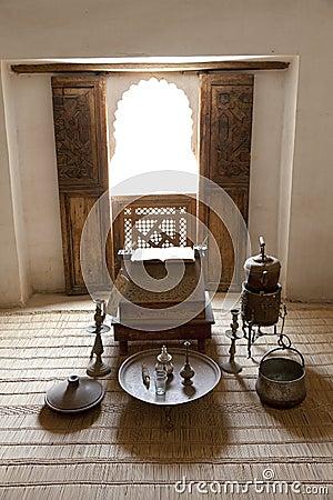 Student room inside the Medersa ben Youssef