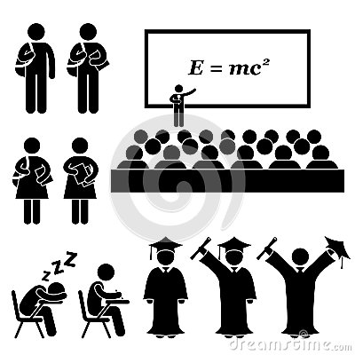 Free Student School College University Pictogram Royalty Free Stock Photography - 31440127