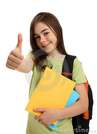Free Student Showing OK Sign Stock Image - 9179631