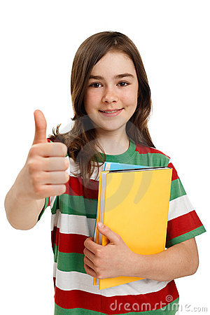 Free Student Showing OK Sign Stock Image - 9459541