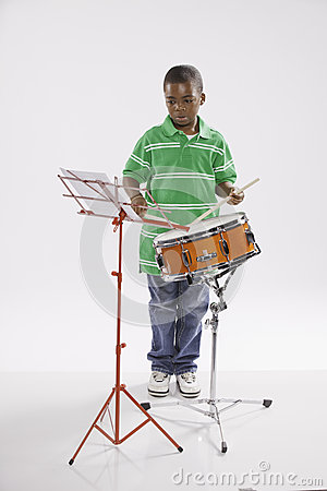 Student and Snare Drum