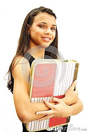 Student teenage girl