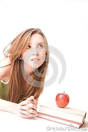 Free Student Thinking Stock Image - 10063281