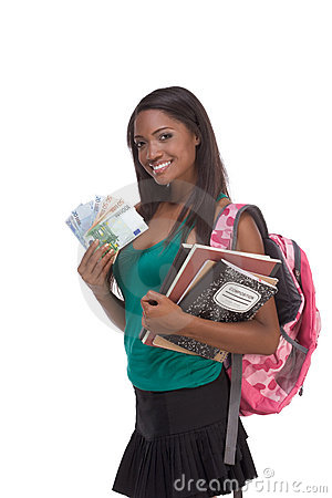 Free Student With Loan Money And Financial Aid Stock Images - 12331594