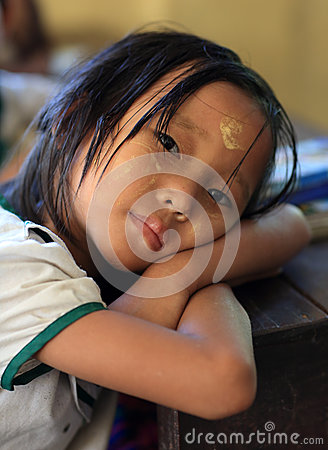 Student in Yangon Editorial Stock Image