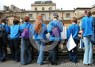 Students at Bath, England