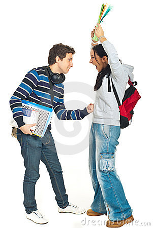 Students couple fight