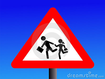 Students crossing sign